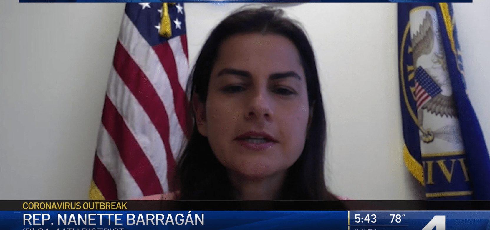 Screenshot of Congresswoman Barragan during NBC interview