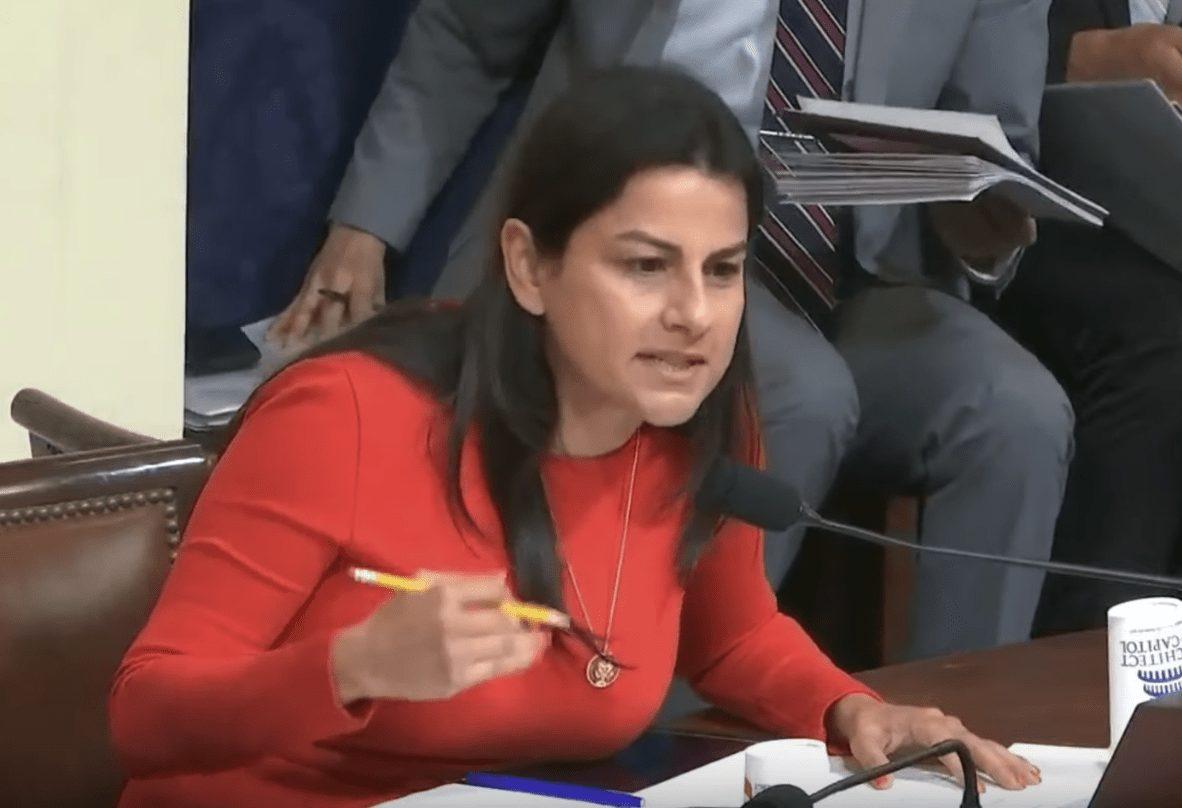 Congresswoman Barragan speaking in a congressional hearing