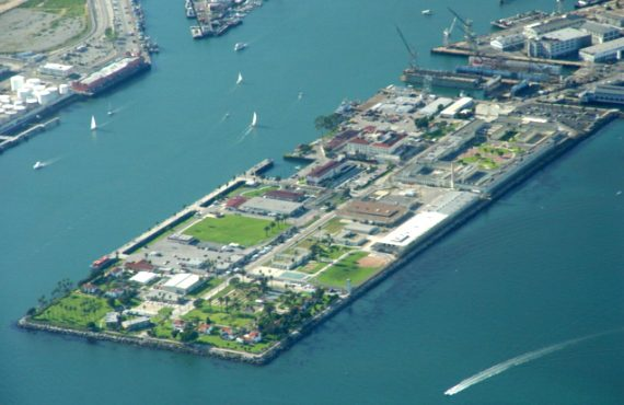 Terminal Island view from above